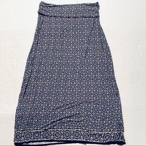 Max Studio Stretch Knit Roll Waist Maxi Skirt XL